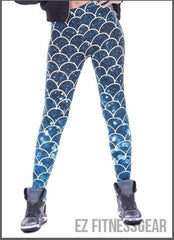 Women's yoga pants - Mermaid design,  - EZ Fitness Gear