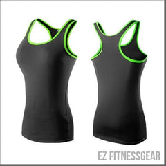 Women's sports vest - Gym and Yoga *LIMITED STOCK*-EZ Fitness Gear-black and rose red-L-EZ Fitness Gear