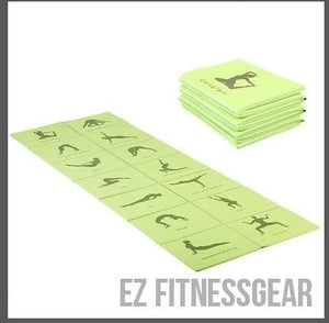Yoga mat showing different poses - Good Inspiration,  - EZ Fitness Gear