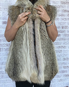Coyote fur coat - Christos Furs