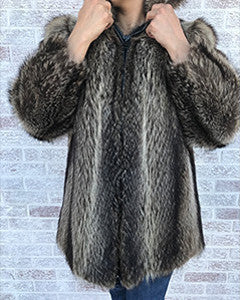 Raccoon fur coat - Christos Furs