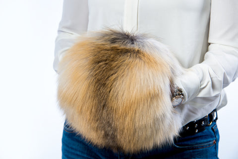 Golden island fox purse-muff