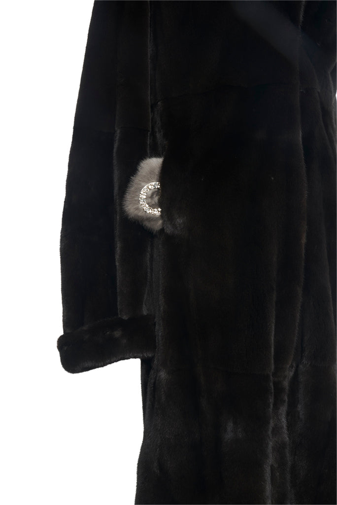 Classic Black Full Length Mink Coat