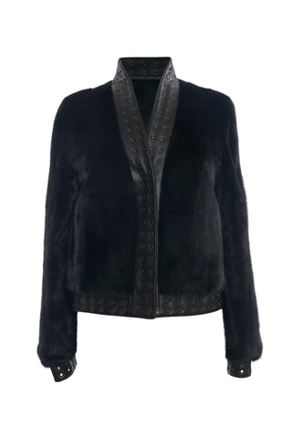Ranch Mink and Leather Jacket