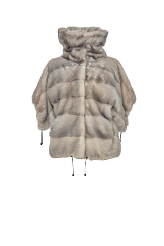 Silver Blue Ice Mink Jacket