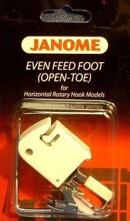 Janome Even Feed Foot - Open Toe for low shank top loading models