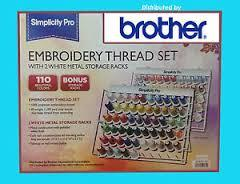 Brother Simplicity PRO Embroidery Thread 110 Spool Set ETKS110