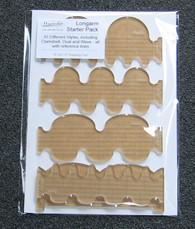 Clamshell 5pc Template-set