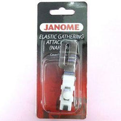 Janome Elastic Gathering Attachment - Narrow (CoverPro)