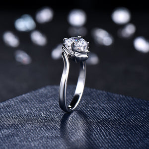 Round Cut 1CT Lab Real Diamond CVD Solitaire Engagement Ring