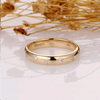 Moissanite Wedding Ring, Solid 14K Yellow Gold Ring, Brilliant Moissanite Wedding Band