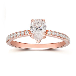 925 Sterling Silver - 2CTW Center Stud Earrings, 4 Prong Set Solitaire Earrings