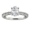 925 Sterling Silver - Oval Cut 6x8mm Accentss Moissanite Engagement Ring