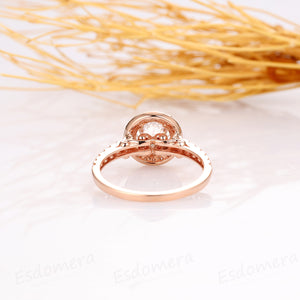 Round Cut 1.25CT Moissanite Wedding Ring, Moissanite Wedding Band, 14k Solid Rose Gold Engagement Ring
