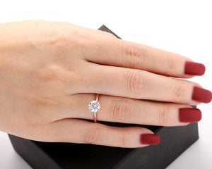 925 Sterling Silver - Rope Solitaire Round 1CT Moissanite Engagement Ring