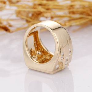 Brilliant Moissanite Wedding Band, Solid 14k Gold Men's Matching Ring