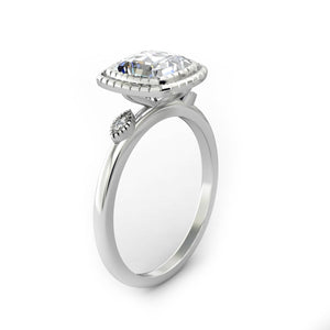 Promise Ring, 1.7CT Cushion Cut Brilliant Moissanite Engagement Ring