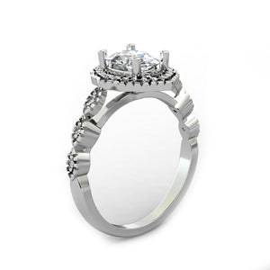 Unique Wedding Ring, 1.5CT Oval Cut Moissanite Engagement Ring