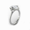 Rope Design Wedding Ring, 2.1CT Oval Cut Moissanite Accents Ring