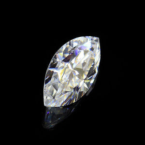 Pear 1.5ct Moissanite Center Stone with Moissanite Side Stones in 14k White Gold-Custom Order