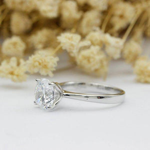 Round Cut 1CT Moissanite Ring, 4 Prongs Solitaire Wedding Ring