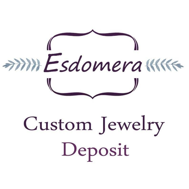 Round Cut 0.8CT Moissanite Ring with Two 0.2CT Round Cut Moissanite in 14k White Gold-Custom Order