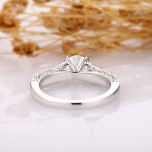 Round Cut 1 CT Moissanite Antique Filigree 4 Prong Engagement Ring