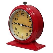 "6"" Metal Retro Sweep Movement Desktop Clock"