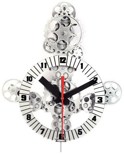 Maple's 18 by 21-Inch Anchor Theme Moving Gear Wall Clock