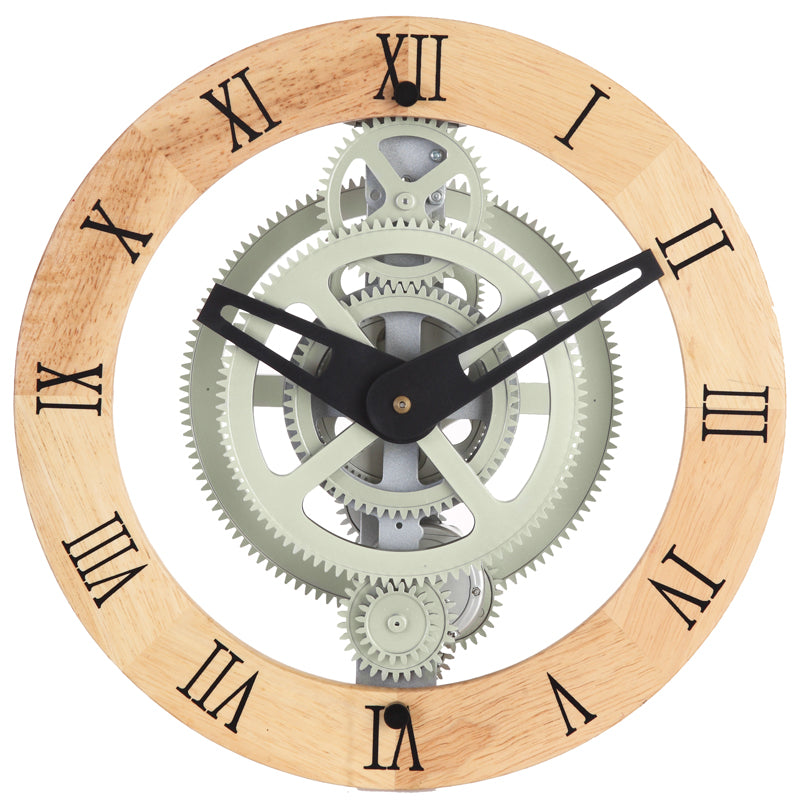 Maple S Lcg88w Moving Gear Wall Clock Wooden Ring Dial