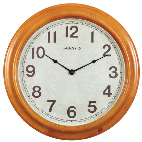 Maple's 16-Inch Wooden Round  Wall Clock
