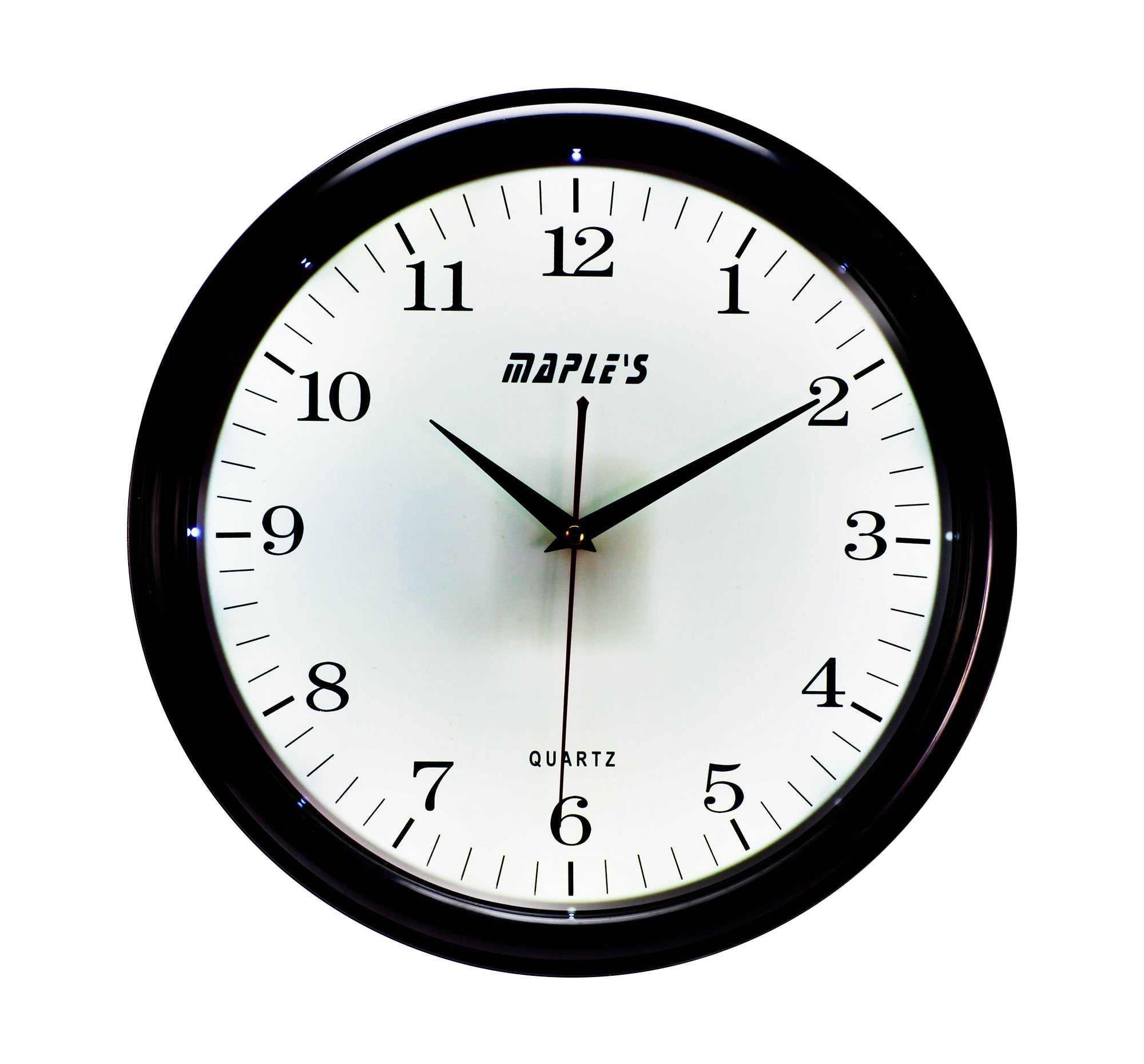 Maple's Clock White LED Plastic  Wall Clock, 14-Inch