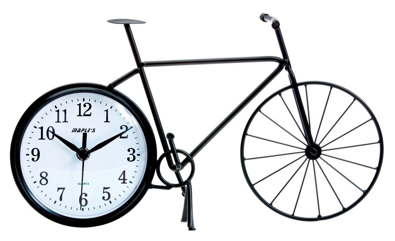 Maple's Bicycle Silhouette Table Clock
