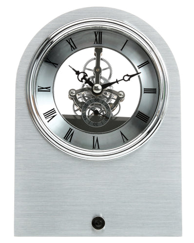 Maple's Skeleton Aluminum Table Clock