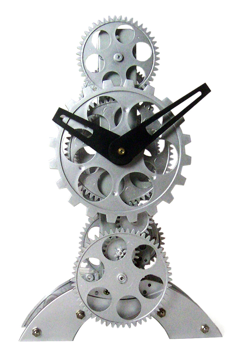 Maple's Clock TCL06-833  Moving Gear Desktop Clock