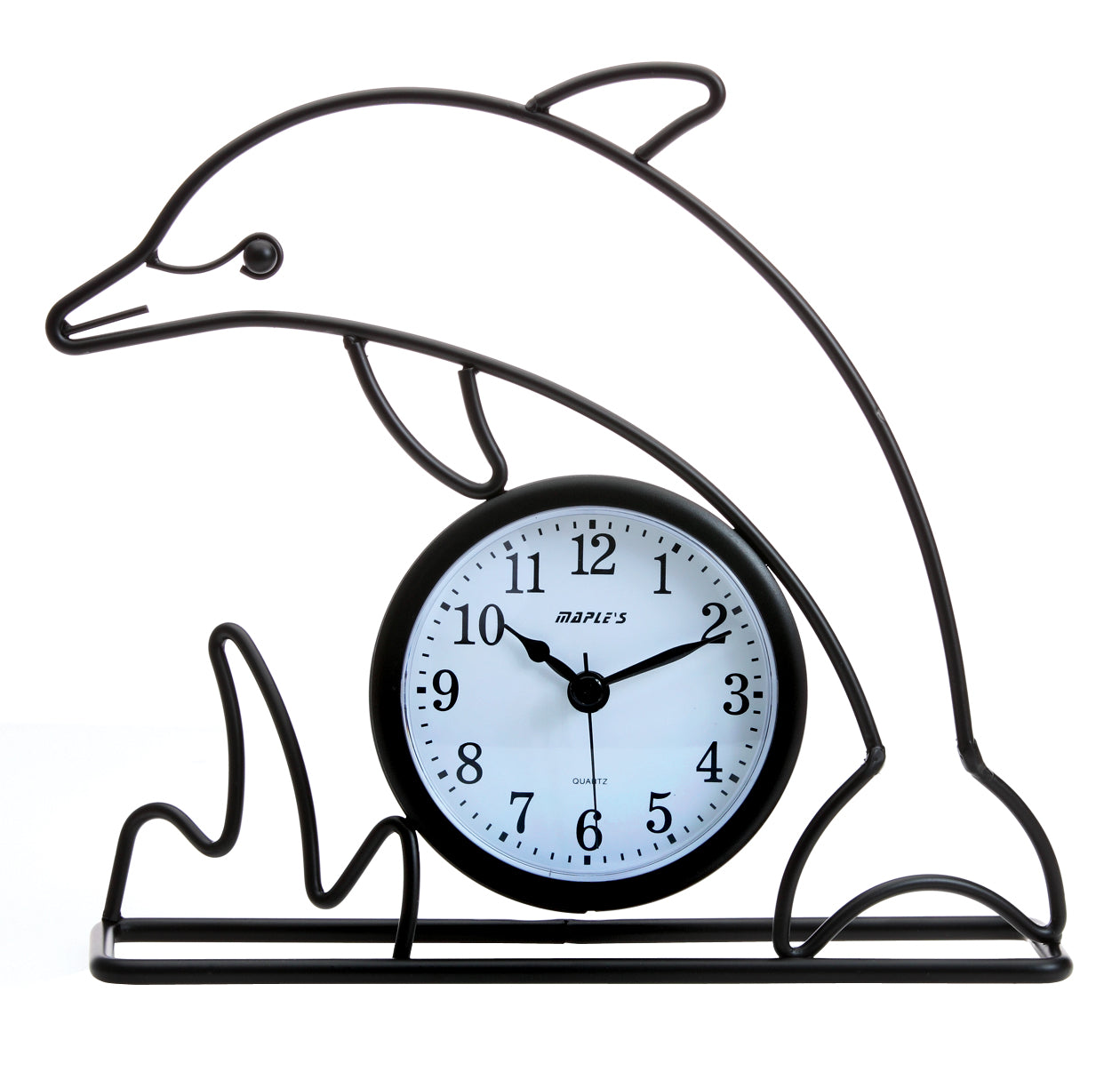 Maple's Dolphin Silhouette  Table Clock