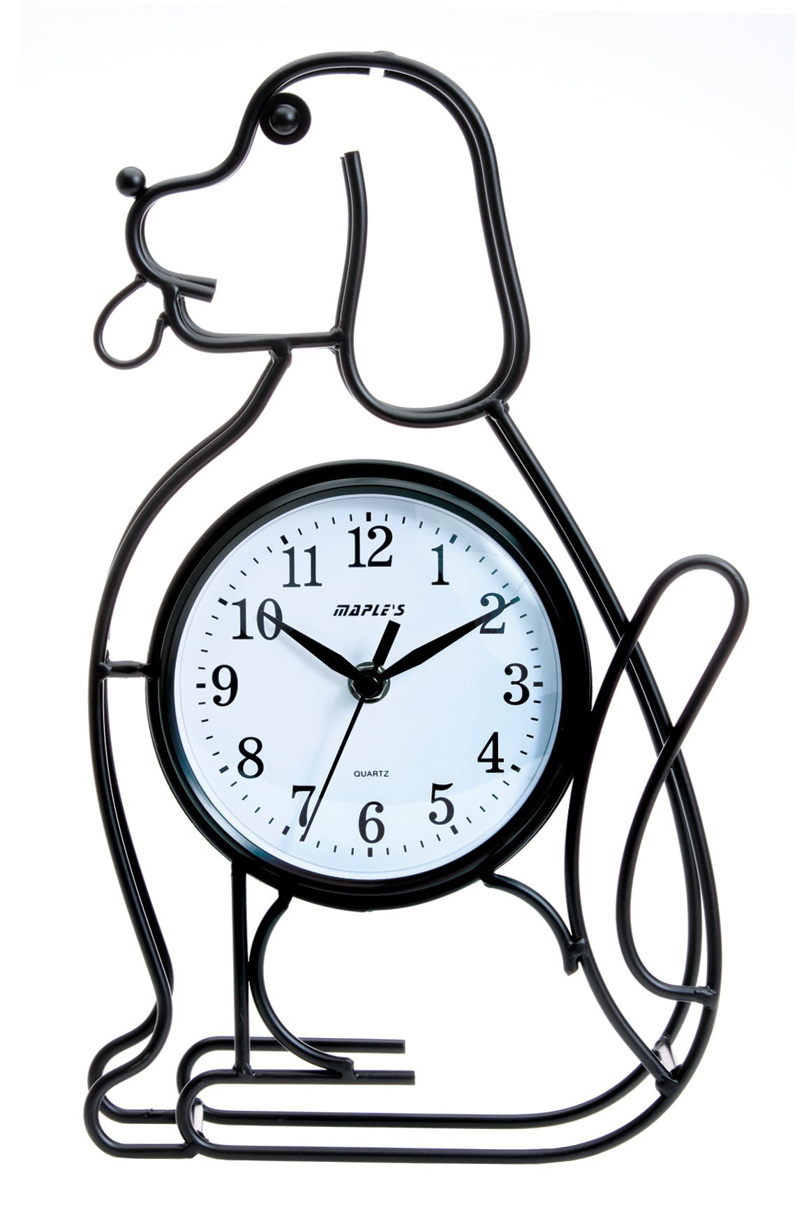 Maple's Dog Silhouette  Table Clock