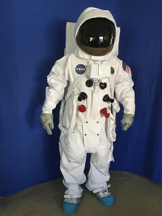 NASA Apollo Deluxe Replica A7L Space Suit With Resin Suit Fittings And Smoke Tinted Visor