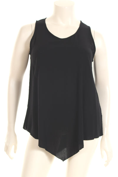 AC1237 Top U neck V bottom sleeveless plain