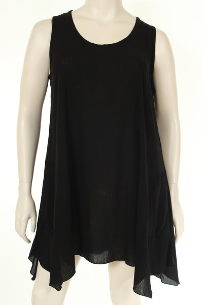 AC1744 Top U neck sleeveless plain