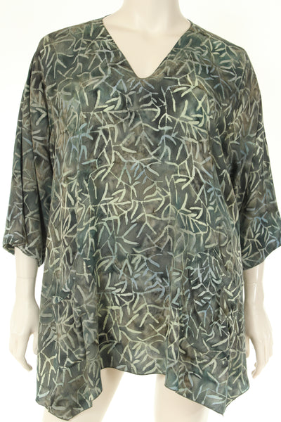 AC1745T Blouse A shape V neck 3/4 sleeve