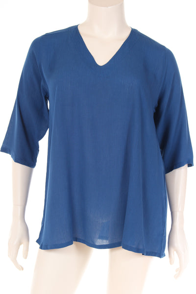AC1770 Blouse V neck 3/4 sleeve