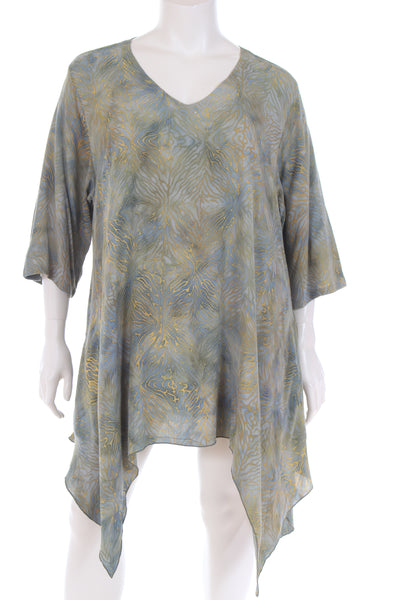 AC1793T Tunique V neck 3/4 sleeve W bottom