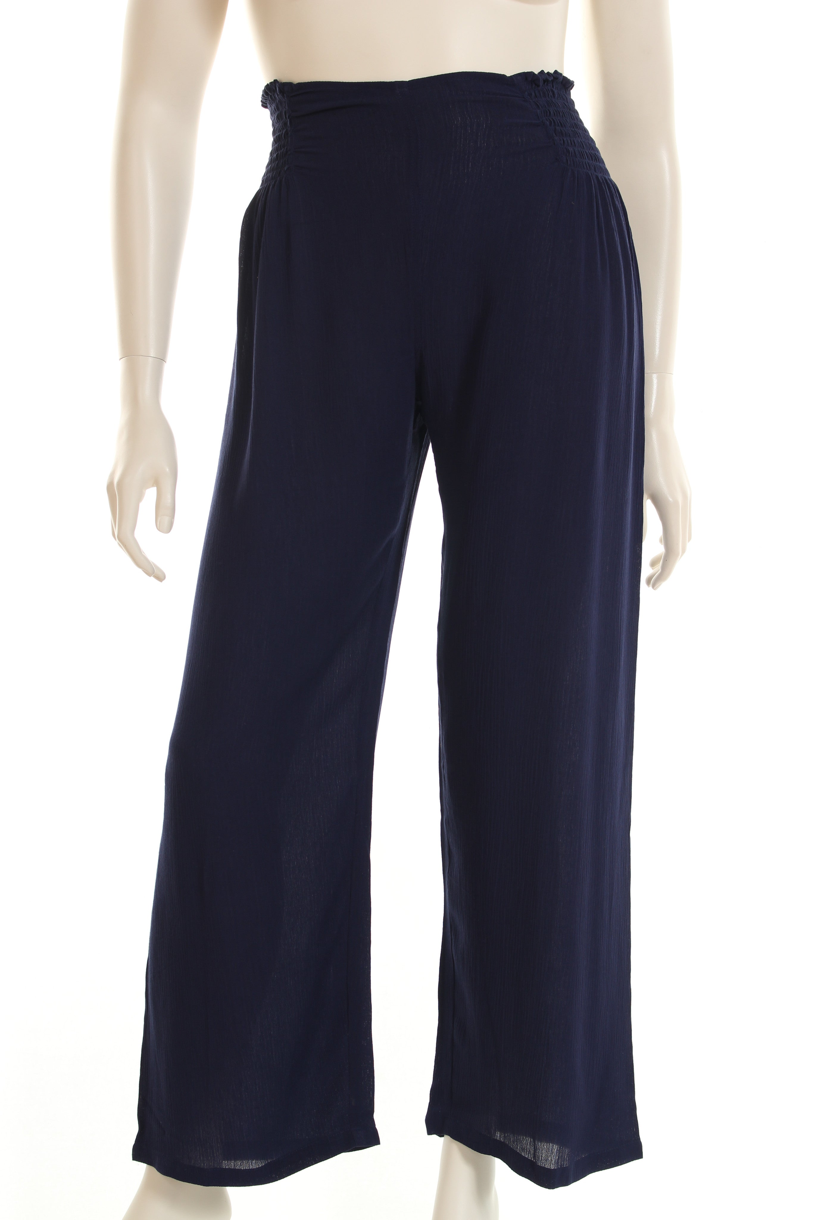 AC4050 Pant long elasticated sides in waist wide leg
