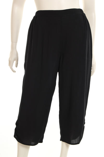 AC4103 Crop pant elasticated side at foot