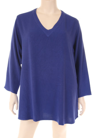 JY1749S Blouse U neck long sleeve