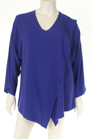AS1670 Blouse V neck long sleeve plain