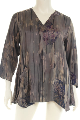 CM6006T Caftan dress long V neck short butterfly sleeve