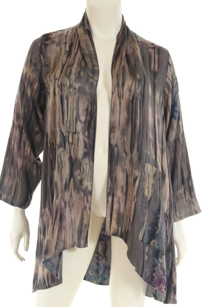 FW3456L Jacket waterfall front long sleeve