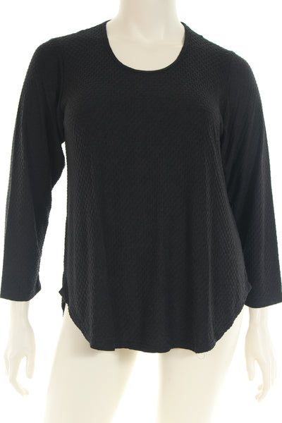 KB1749 Blouse U neck long sleeve